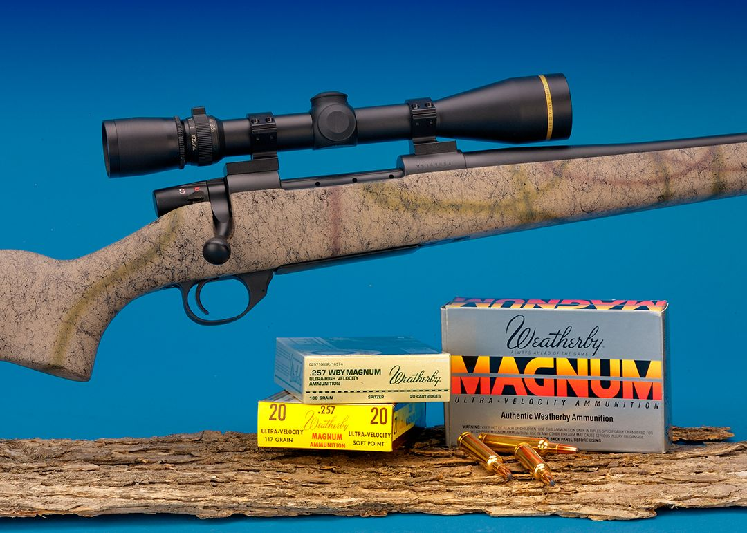 Trzoniec loved the .257 Weatherby, so he decided to order a Vanguard rifle through the Weatherby Custom Shop with a special stock and other additional items. A Leupold Vari-X III 3.5-10 40mm scope was used for testing and hunting.