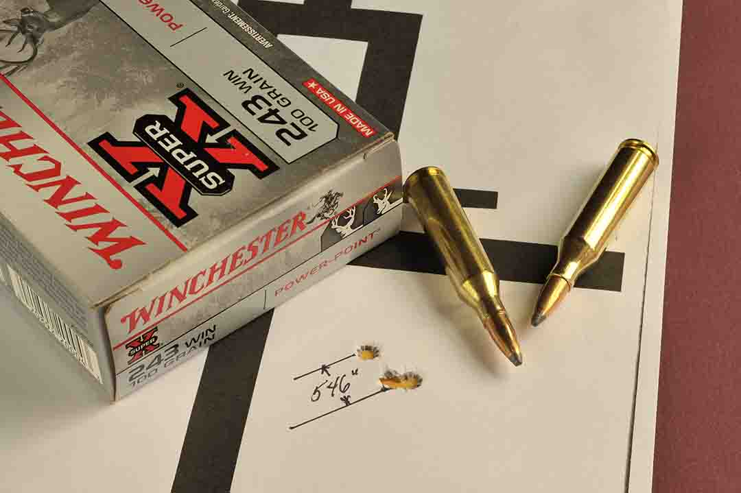 Winchester has stated that shooters can expect one minute of accuracy with the Model 70 with three shot groups. This one came in at .546 inch.