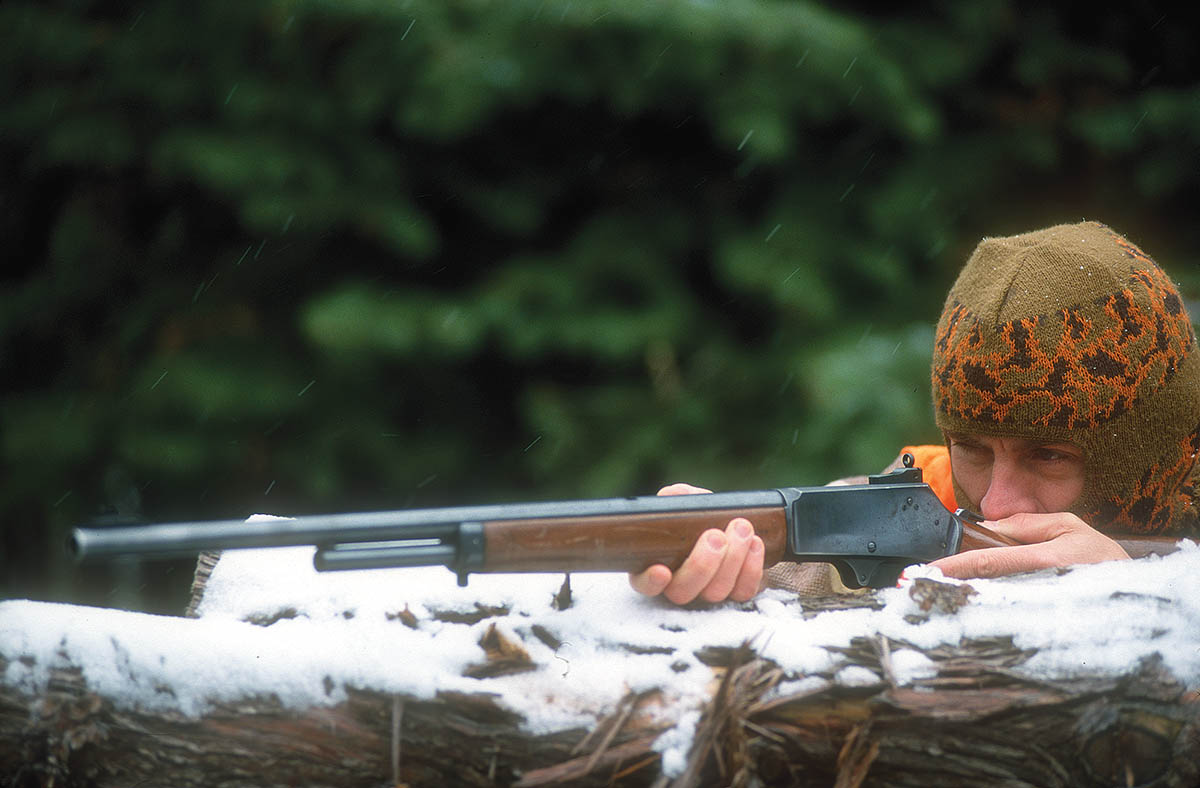 For years, Jack has favored big levergun cartridges, along with open sights, when elk hunting.