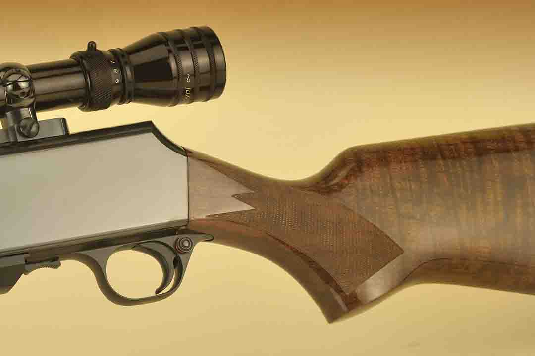 For many hunters, there is nothing like a Browning. High polishing on the receiver, crisp checkering and fine wood are all the hallmarks of this gun.